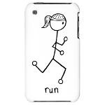 Cute Running Girl Stick Figure