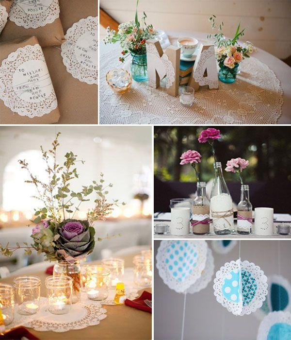 Ideas súper chulas con blondas de papel para las bodas