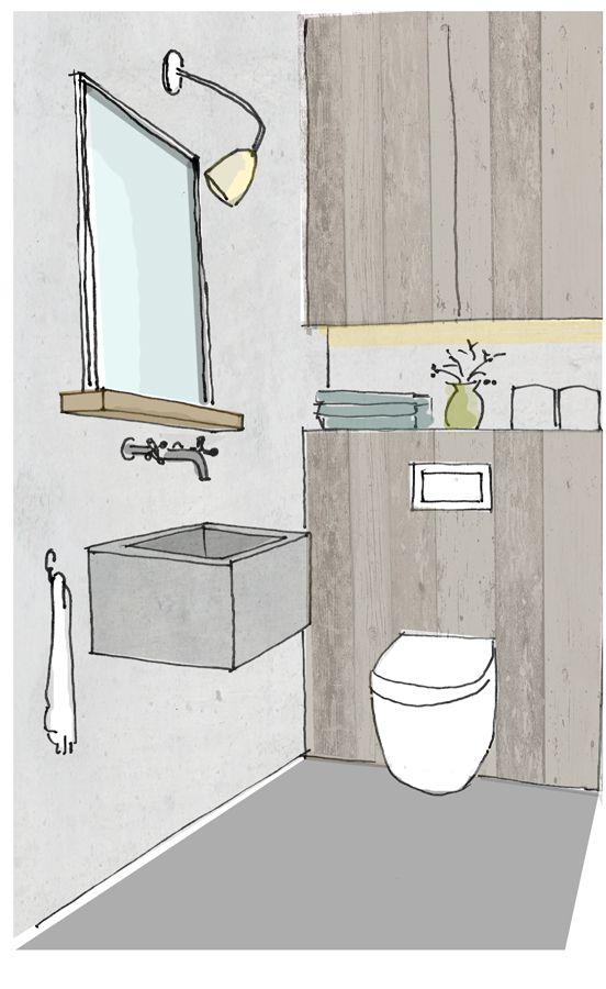 In veel woningen is het kleinste kamertje meteen ook het onhandigste kamertje. Een kille ruimte, je knieen tegen de deur, een felle spot aan het plafond en een te klein spetterfonteintje.