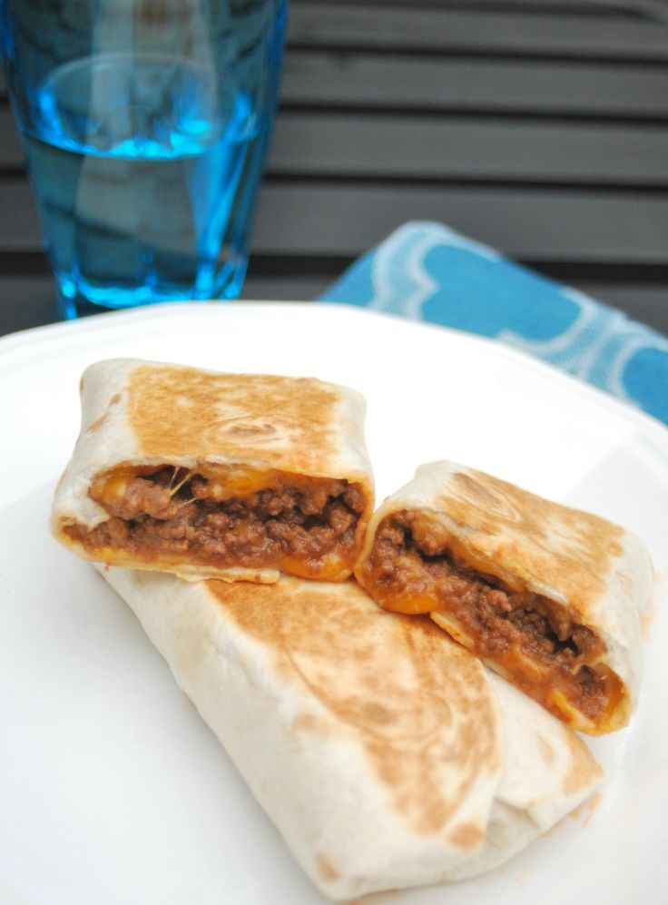 These easy cheeseburger wraps are a great solutions to having nothing thawed for dinner.