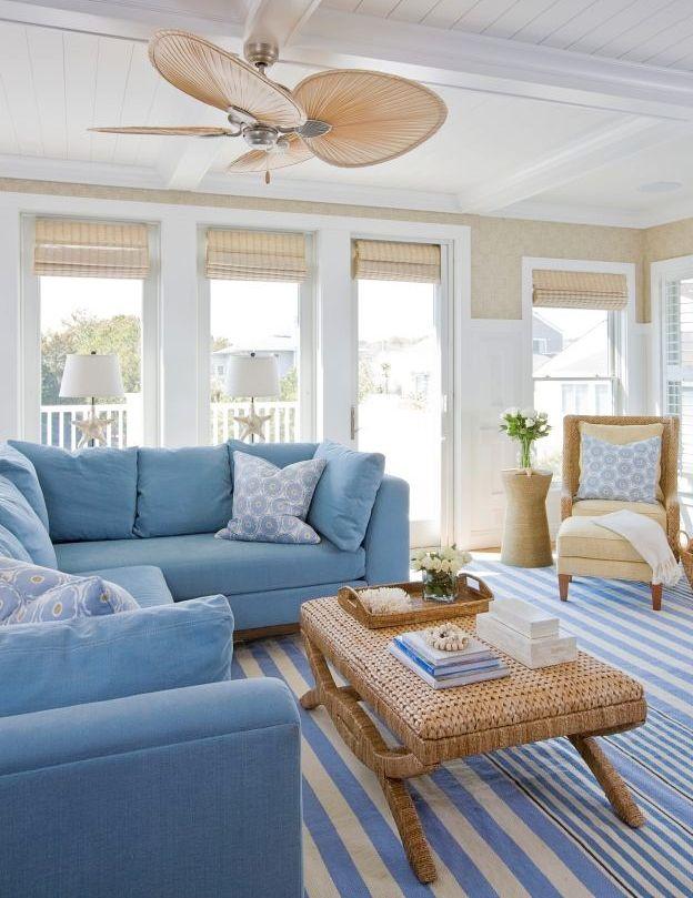 Blue Sofa Decor Ideas Shop The Look Beach House Living Room Beach Living Room Coastal Decorating Living Room