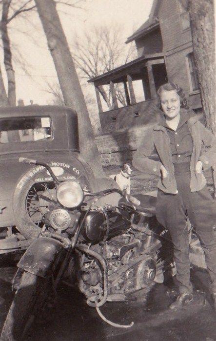 Vintage biker chicks never get old.