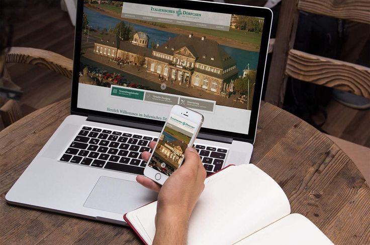 Neue Webseite für das Restaurant Italienisches Dörfchen in Dresden ist online. #italienischesdörfchen #dresden #responsivedesign #webdesign #mediadesignvogel
