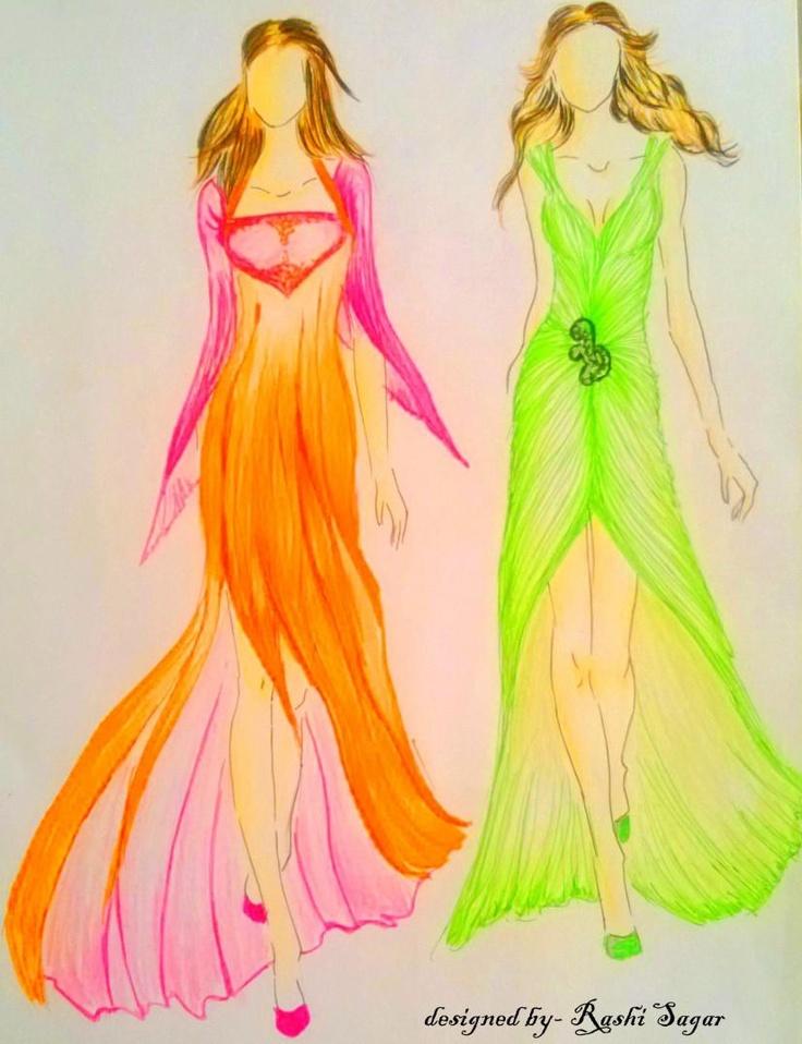 ramp walk! - Fashion by rashi sagar in Fashi0n Illustrati0ns by me! at touchtalent