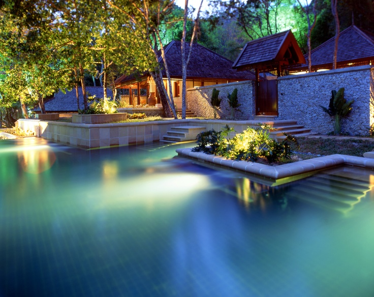 Villa unter den Palmen Design Architektur modern Pangkor Laut Insel