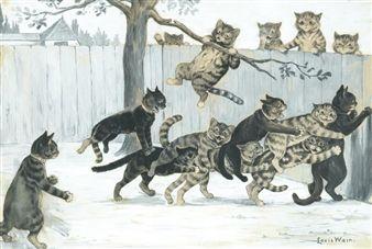 Cats at play By Louis Wain