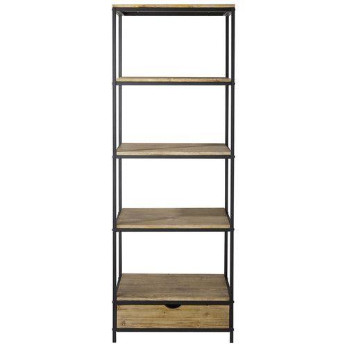 Metal industrial shelf unit W 70cm