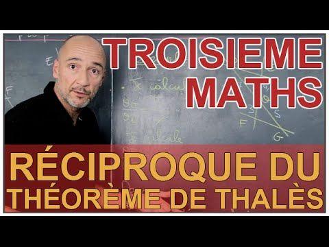 Réciproque du théorème de Thalès - Maths 3e - Les Bons Profs - YouTube