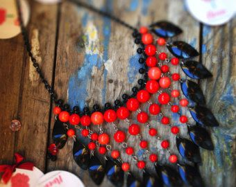 Bright necklace от PeonyStore на Etsy