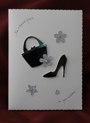 black bag and shoe