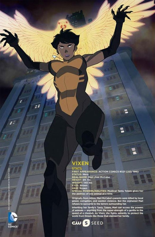Promotional Image from CW Seed's Vixen new animated TV series