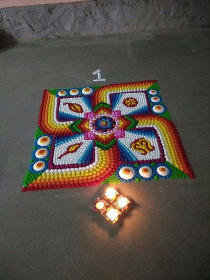 Rangoli multi color