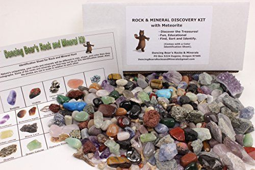 ROCK & MINERAL COLLECTION Kit with a Meteorite Fragment This is an Activity KIt with Over 150+PCS Comes with Identification Sheet EDUCATIONAL DISCOVERY TREASURE KIT SORT, FIND, IDENTIFY Dancing Bear's http://www.amazon.com/gp/product/B00AF0N426/ref=as_li_qf_sp_asin_il_tl?ie=UTF8&camp=1789&creative=9325&creativeASIN=B00AF0N426&linkCode=as2&tag=divinetreas03-20&linkId=I5QSHWMVKI5EZOUU