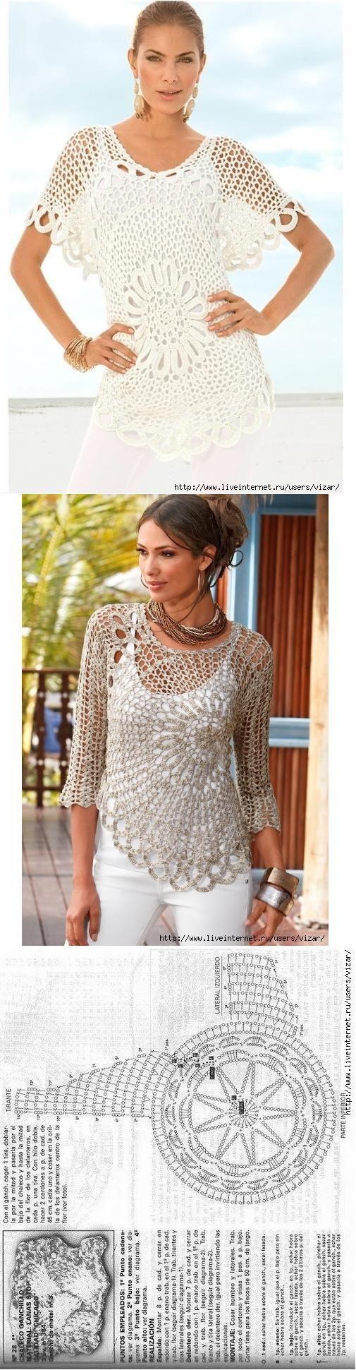 Duas blusas, bem parecidas. Adoro esses modelos circulares, afinam a silhueta e são lindos demais.: