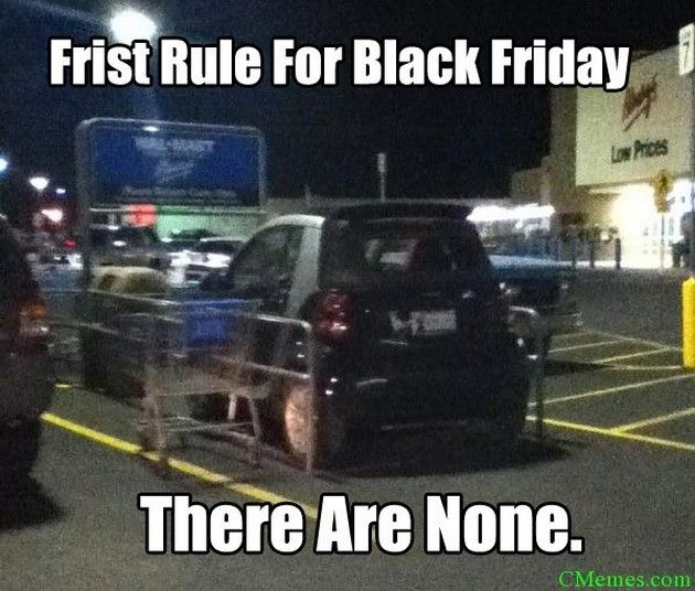 To get you into the Thanksgiving spirit, we are bringing you some 'amusing' photos and memes of crazy #BlackFriday shoppers! Get ready to laugh and shake your head at the same time!