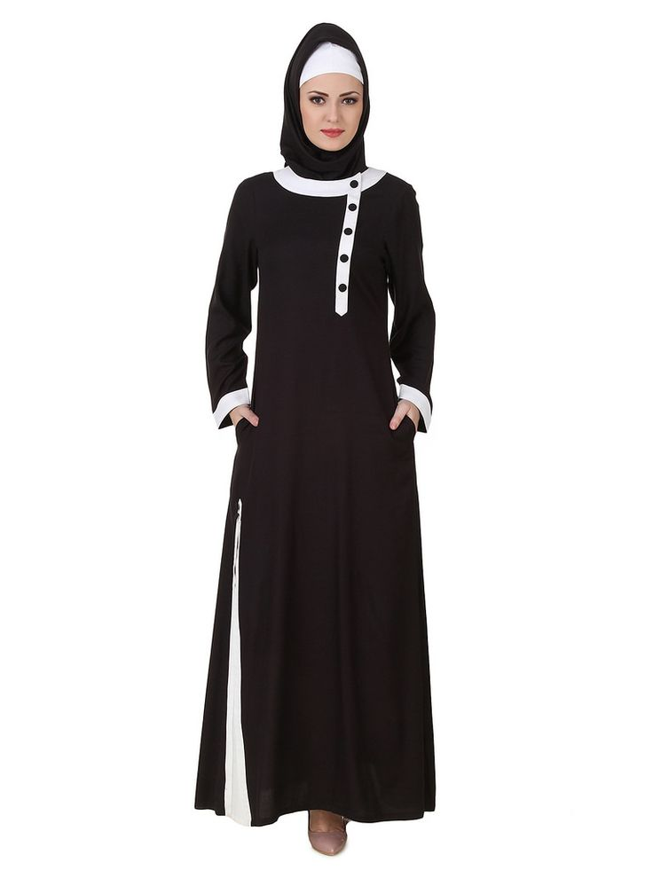 https://flic.kr/p/Grqx5E | MyBatua Jaza Rayon Black Abaya | Available in sizes XS to 7XL, lenth 50 to 66 inches. | Buy link : www.mybatua.com/catalogsearch/result/?q=jaza+rayon+black+...
