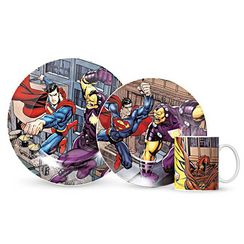 Warner Bros. SUPERMAN 3-Piece Place Setting Dining Set, MS0157