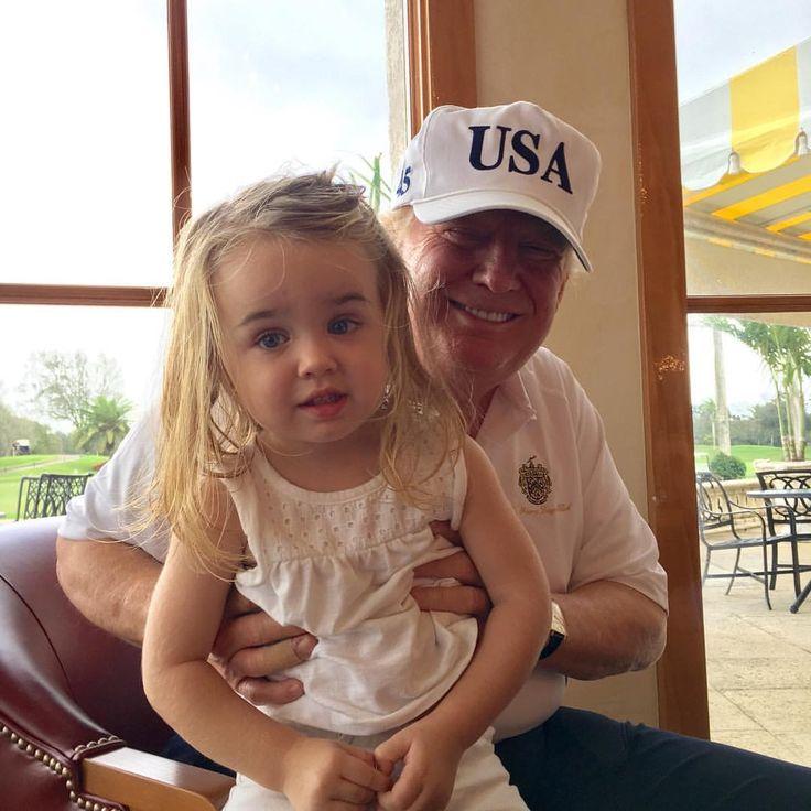 Donald Trump and his Granddaughter Chloe Trump