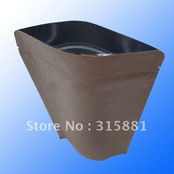Papel de aluminio forrada bolsas de papel kraft con cierre de cremallera para el embalaje de café/parables kraft bolsas de café...