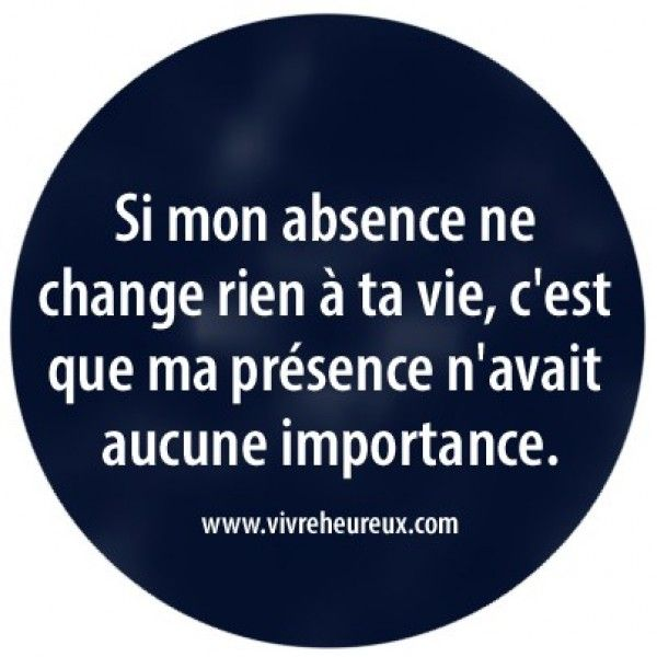 Si mon absence