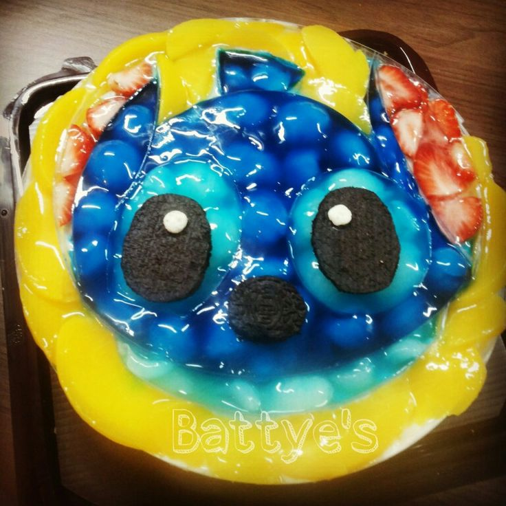 Stitch cheesecake I made