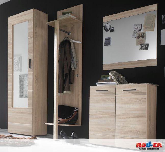 Popular Moderne Garderobenkombination in freundlicher Farbgebung Sonoma Eiche Kleiderschrank Paneel