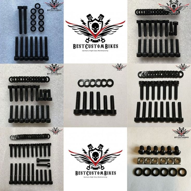 HD Engine Bolt Kit Black V-Rod® Night Rod Special® Muscle® from 2002+ - BestCustomBikes