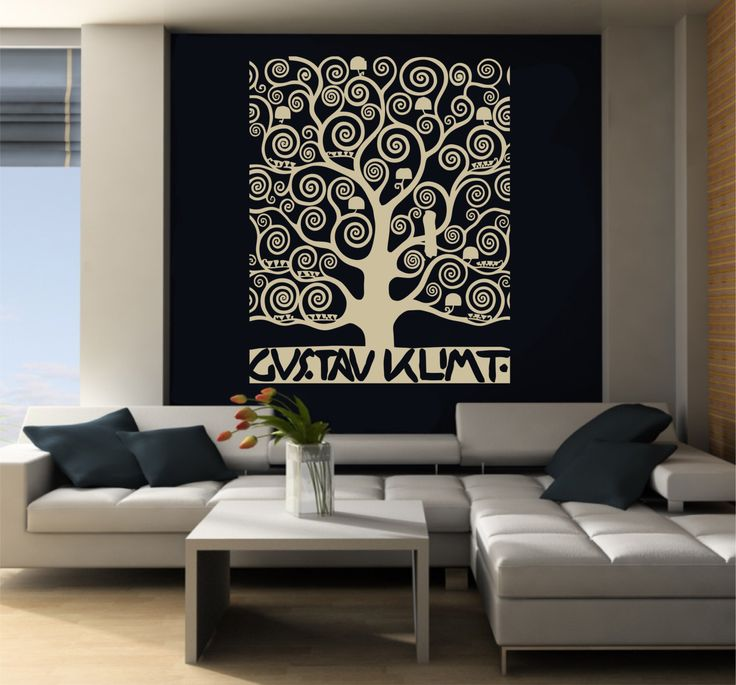 Large Wall Art inspired by Klimt's - Large Wall Decals For Living Room SB Creative Design