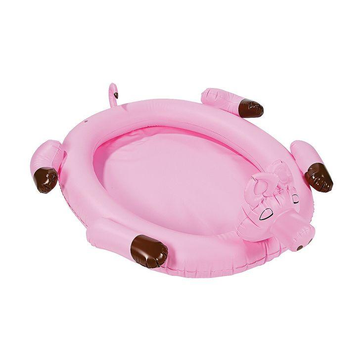 Luau Pig Inflatable Cooler - OrientalTrading.com
