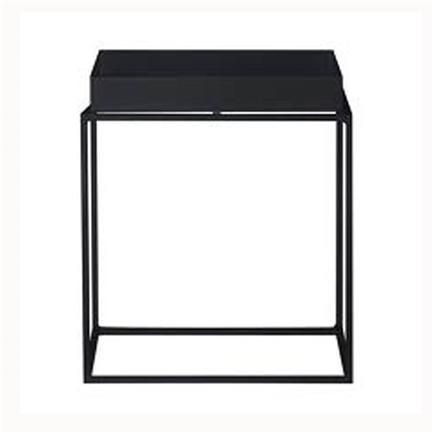Tray square Table, small, black, Hay, Hay
