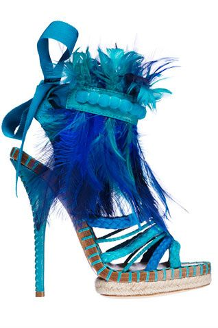 Dior: Dior Spring, Fashion Shoes, Christian Dior Shoes, Style, Christiandior, Blue Feathers, Woman Shoes, Blue Shoes, High Heels