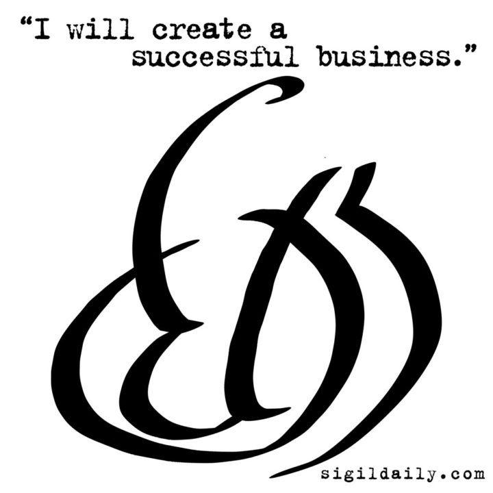 """I will create a successful business."" #wealth #money #business #sigil #sigils #chaosmagick"