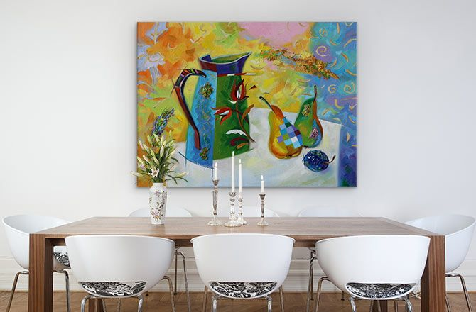 11 Exquisite Canvas Painting Ideas For Tricky Spaces Canvas Wall Art Space Wall Art Wall Art Painting
