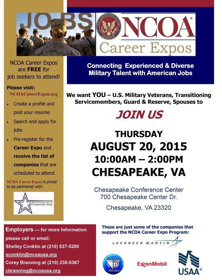NCOA Career Expos Where Employers Connect with Military