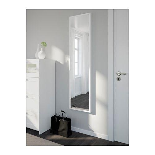 STAVE Espelho - branco, 40x160 cm - IKEA