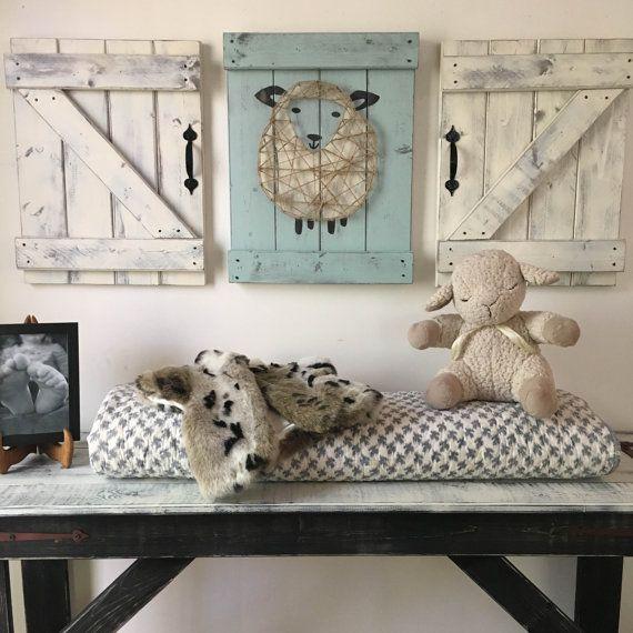SHEEP NURSERY DECOR 3 pc. set lamb nursery art by ElevenOwlsStudio