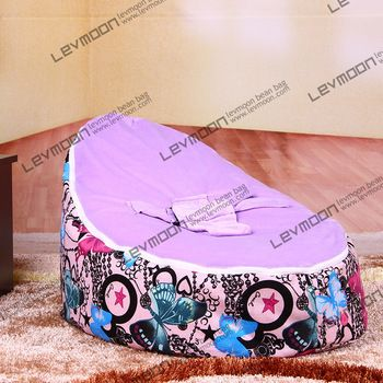 FREE SHIPPING baby seat cover with 2pcs voilet up cover bean bag chair baby beanbag cover baby bean bag no filler