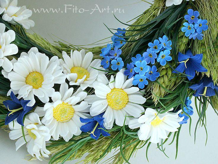 Летний венок - Цветы ручной работы