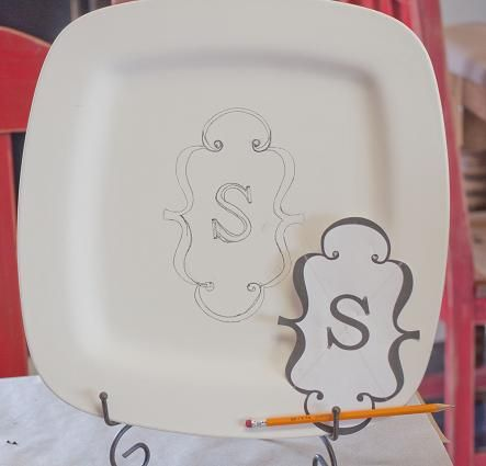 monogrammed pottery.. B. Lowe this has your name all over it - totally in for it!
