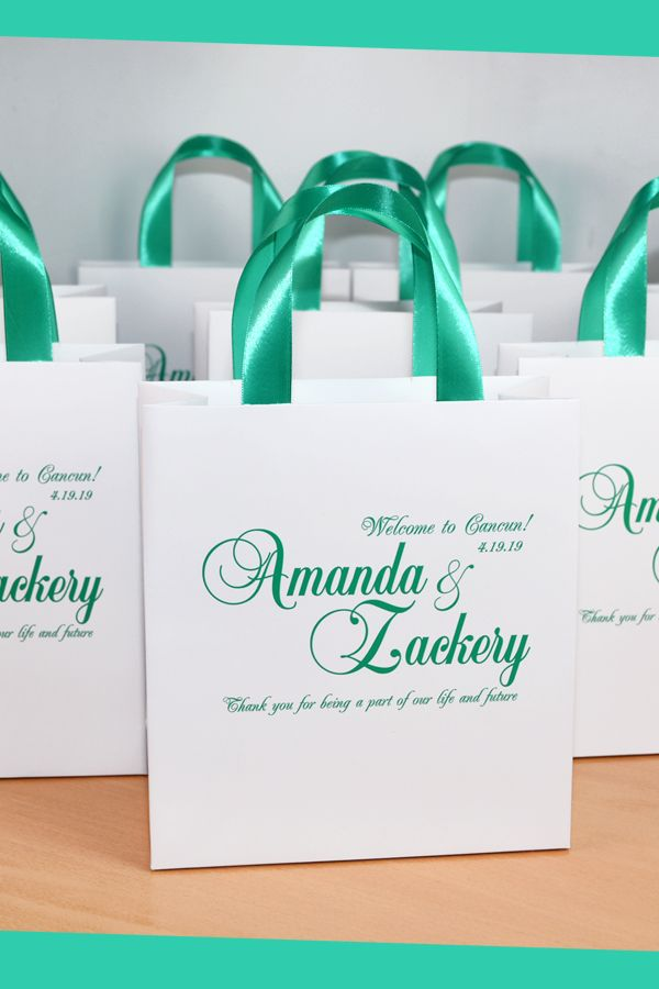 25 Wedding Wedding Welcome Bags For Hotel Guests Custom Etsy Wedding Welcome Bags Wedding Gift Bags Wedding Welcome