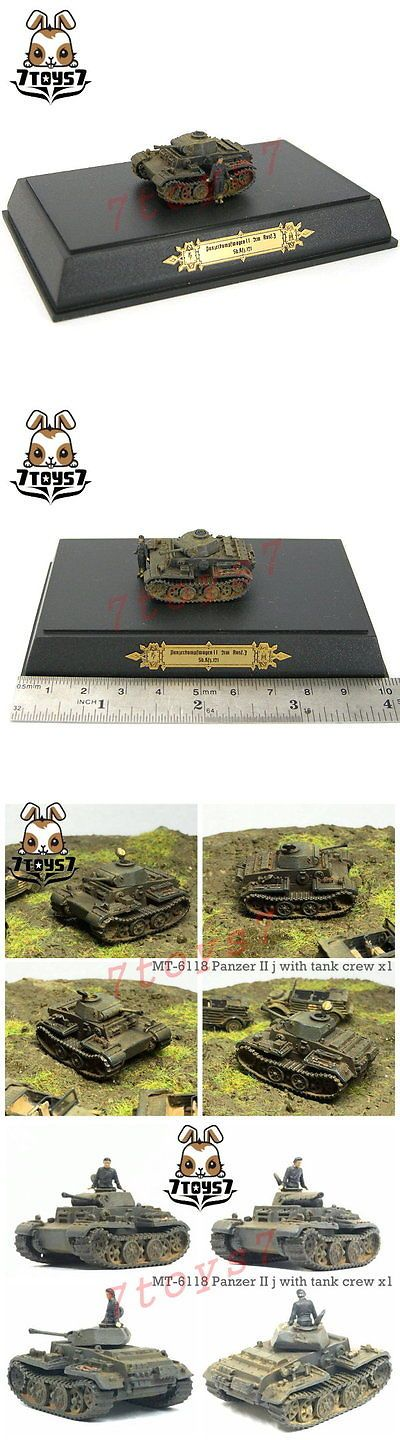 Pre-1970 734: Metal Troops 6118 1 144 Panzer Ii J With Crew _German Wwii Painted Now Mt007d -> BUY IT NOW ONLY: $37.49 on eBay!