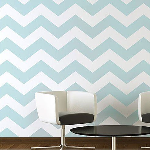 Chevron Allover Stencil - Small scale - reusable stencil patterns for walls just…