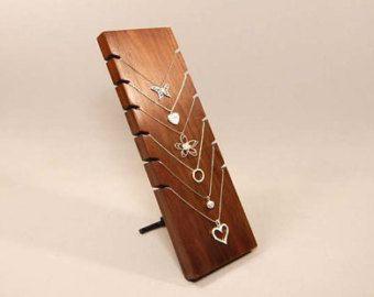 Soporte de exhibición del collar, sostenedor del collar, collar organizador, Junta collar, exhibición de la joyería de madera, madera de la joyería, exhibición de la joyería 107