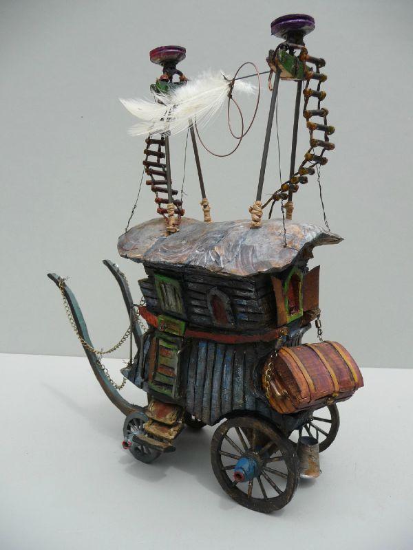 XXV - Photo de Les roulottes.... petits théâtres d'objets - Théâtres d'objet et sculptures voyageuses