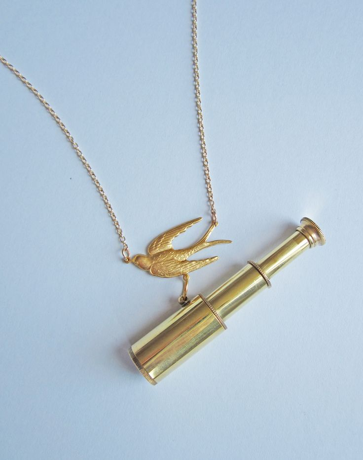 Working telescope necklace, opens out and retracts-sample sale eclectic eccentricity