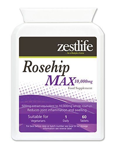 The Product Zestlife ROSEHIP MAX 10,000mg 2 x 60 tablets High in Vitamin C,contains vitamins A, B and D.  Can Be Found At - http://vitamins-minerals-supplements.co.uk/product/zestlife-rosehip-max-10000mg-2-x-60-tablets-high-in-vitamin-ccontains-vitamins-a-b-and-d/