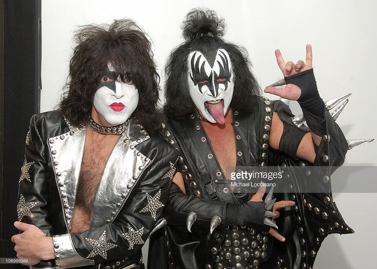 Paul Stanley and Gene Simmons of Kiss during Gene Simmons and Paul Stanley of Kiss, and Lady Sovereign Visit MTV's 'TRL' - October 31, 2006 at MTV Studios - Times Square in New York City, New York, United States.