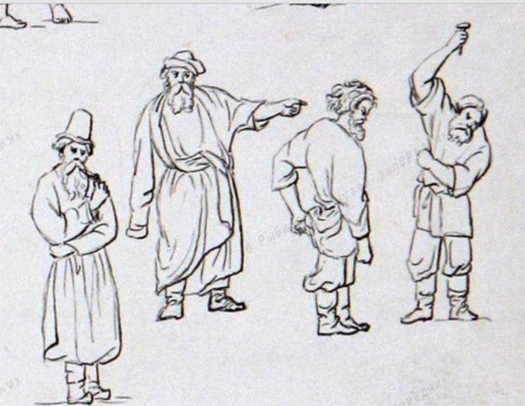 """Музейный номер:РБМ-20 Название:Рисунок """"Диван Орляночный и разные игры"""" 1851 г. http://iss.rybmuseum.ru/kng/item/item.jsf"""