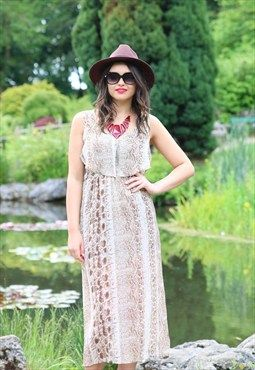 Gorgeous Snakeskin Printed Maxi Dress! Get or regret at 21 Guildhall Street Preston city centre or order online & get FREE UK shipping - www.maryandmilly.co.uk