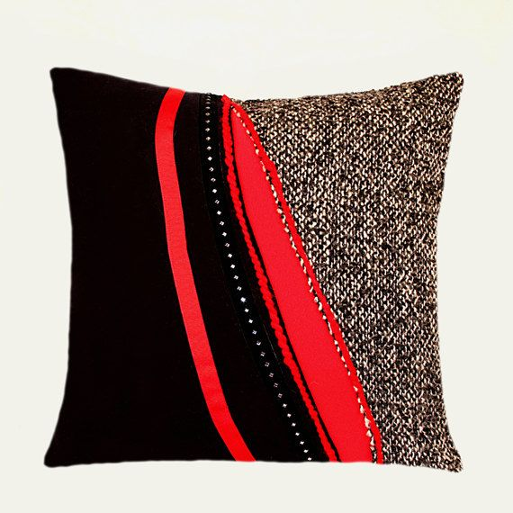 28 best Red and Black Throw Pillows images on Pinterest